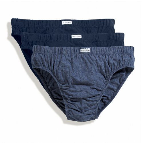 Fruit of the Loom Classic slip 3 pack Blues L
