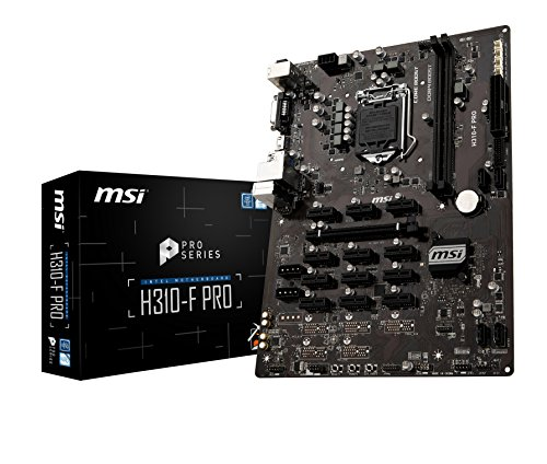 MSI H310-F Pro - Placa Base Pro Series (LGA 1151, 1 x PCI-E 3.0 x16, HDMI, DVI-D, 4 x SATA 6 GB/s, Mining Management, 4 x USB 3.1, 4 x USB 2.0)
