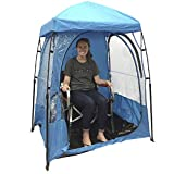 EasyGO CoverU Sports Shelter – 1 Person Weather Tent Pod (Blue) – Patents Pending