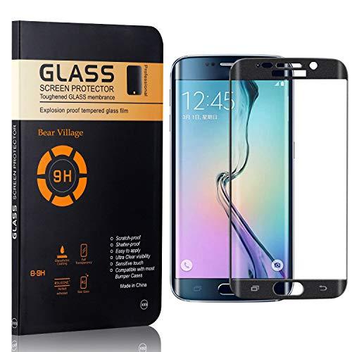Bear Village Displayschutzfolie für Galaxy S6 Edge, 9H Härte Schutz, Keine Luftblasen, Ultra klar Schutzfilm aus Gehärtetem Glas Kompatibel mit Samsung Galaxy S6 Edge, 1 Stück