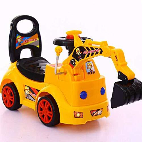 CAH-Travel Systems Enfants Baby Walker 1/2-3 Ans Bébé Scooter Twist Car Musique à Quatre Roues,2kg(50 Kg Maximum),Q