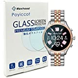 for Michael Kors Access Lexington 2 Screen Protector, Poyiccot 2Pack Tempered Glass 9H HD Scratch Resistant Screen Protector for Michael Kors Access Lexington 2 Screen Protector