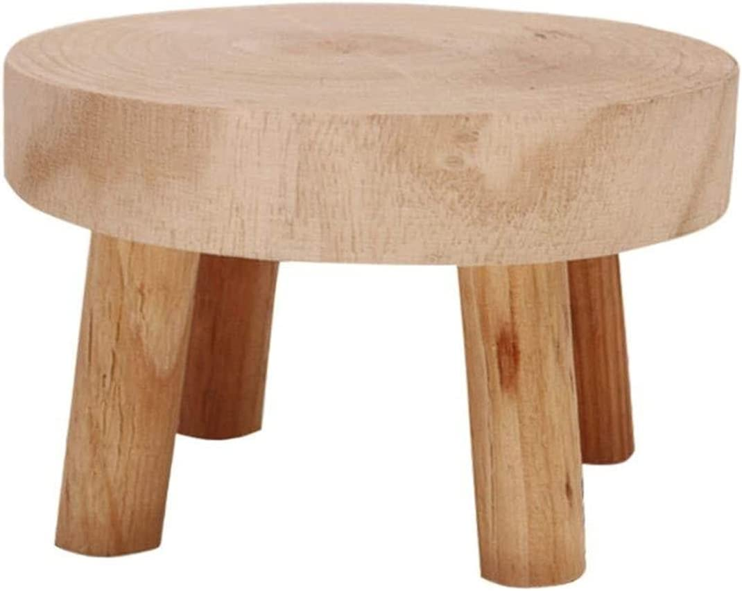 Retro Denver Mall Wooden Plant Stand Stump Stool and Sales of SALE items from new works Indoor Living Outdoor R