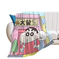 クレヨンしんちゃん ブランケット 毛布 マイクロファイバー フランネル ひざ掛け 軽量 大判 厚手 暖かい 防寒 ふわふわ 柔らかい 肌に優しい オールシーズン アウトドア 洗える かわいい おしゃれ