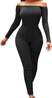 iYYVV Women Fashion Fancy Off Shoulder Long Sleeve Sexy Bodycon Hip Rompers Jumpsuit