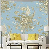 Flower butterfly tapestry wall hanging vanilla colorful daisy garden nature scenery tapestry blanket wall covering A4 130x150cm