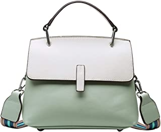Fashion New Exquisite Novel Casual Fashion Portable Slung Shoulder Small PU Handbag (Color : Green)