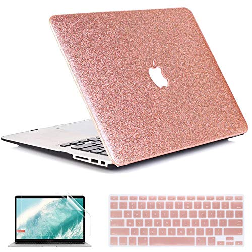 QYiD Macbook Pro 15 Retina Case A1398, Plastic Hard Shell Case Cover with Keyboard Cover & Screen Protector for Macbook Pro 15.4' with Retina Display Modle A1398 (2012-2015 Release), Pink