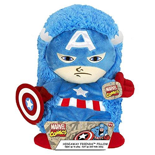 "Disney Marvel JFE22405WCD Marvel 14"" Pet Captain America Plush Hideaway Character Pillow, 12"""