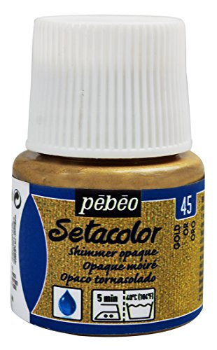 PEBEO Setacolor Opaque Fabric Paint 45-Milliliter Bottle, Shimmer Gold,Shimmer Gold