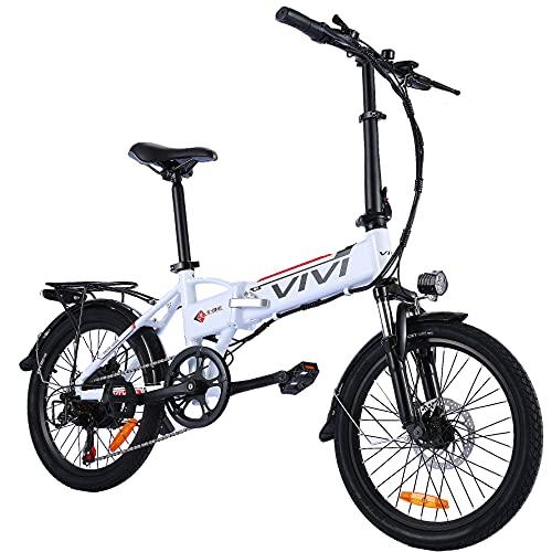 Vivi Bicicletas Electrica Plegable Adulto, 20'' Ebike Motor