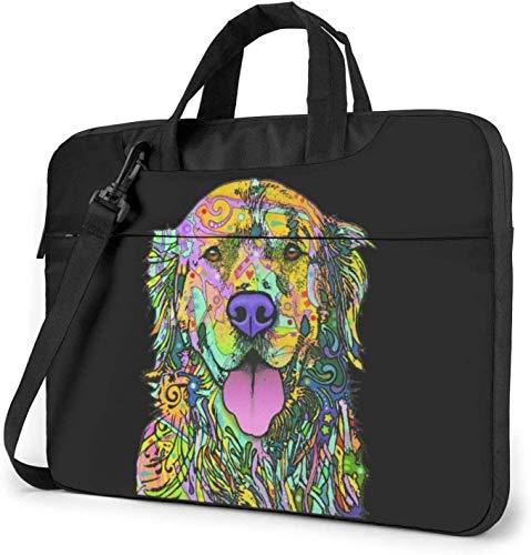 Golden Retriever Laptop Bag Shockproof Briefcase Shoulder Bags Carrying Case Laptop 15.6 Inch
