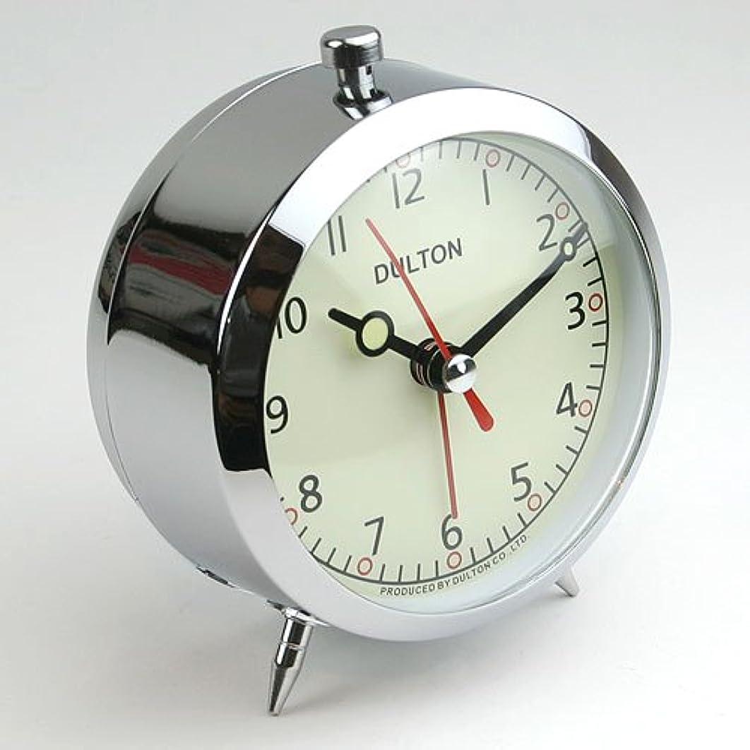 バイオレット差別化するプライバシー[DULTON]ダルトン アラームクロックALARM CLOCK CHROME 100-053Q/CR