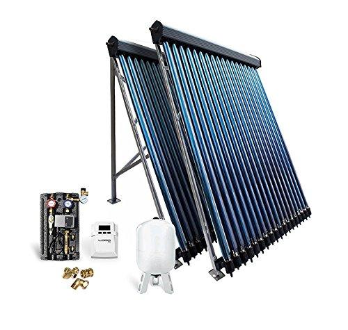 Solar-Paket Röhrenkollektor HP22 für Flachdach, 7,22 m²