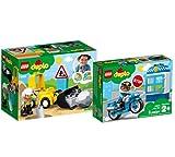 Collectix Lego DUPLO - Juego de bicicleta 10930 y moto de policía 10900, para niños a partir de 2 años