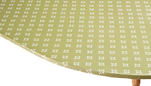 WalterDrake Heritage Vinyl Elastic Table Cover with Fleece Backing in 3 Sizes, Reusable