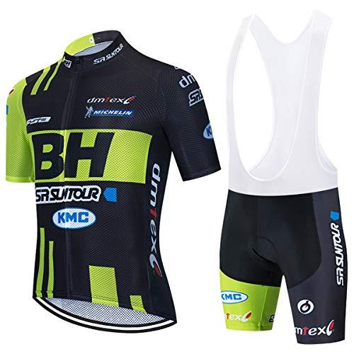 HOLISHITO maillots ciclismo manga corta transpirables verano para hombres y pantalones cortos...