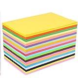 Papel A4 de colores 100 hojas Paquete de tarjetas de colores A4 Papel arco iris surtido Papel de colores A4 Papel de impresora A4 Papel de colores Papel de origami Papel pastel dibujar Construcción