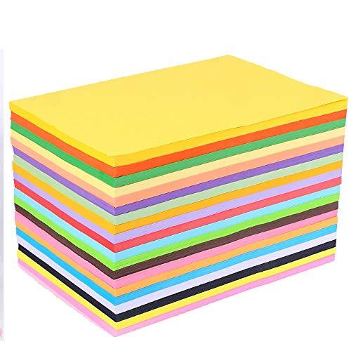 Carta Colorata A4 100 Fogli Cartoncino Colorato Confezione A4 Carta Arcobaleno Assortita Carta Colorata A4 Carta Per Stampante A4 Carta Colorata Carta Origami Carta Pastello Per Il Disegno Edilizia