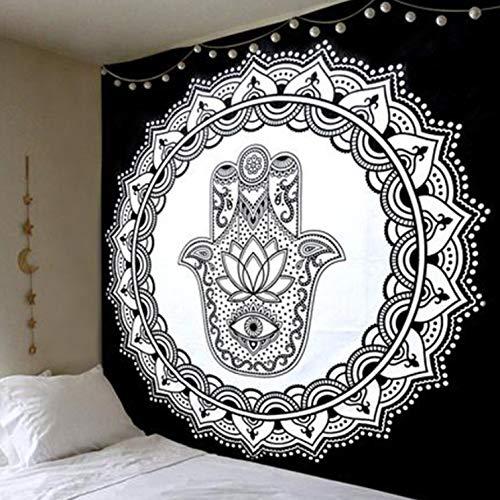 BOBSUY tapijt zwart en wit kleur chique Nepalese bloemen decoratieve yoga mat