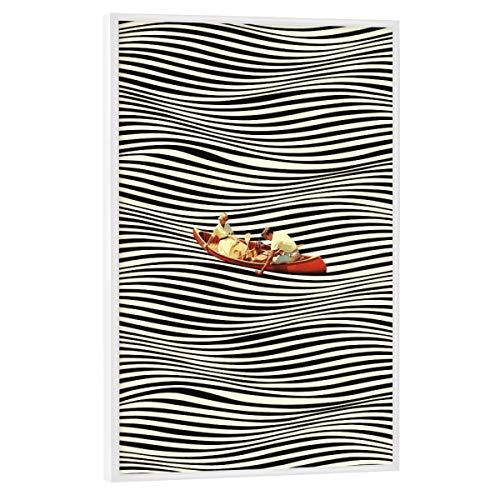 artboxONE Poster mit weißem Rahmen 60x40 cm Reise Illusionary Boat Ride - Bild Love abstrakt Boat
