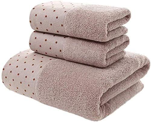 Toalla de baño de algodón suave para adultos, juego de 3 piezas de toalla de playa absorbente para mano (color: C)-B
