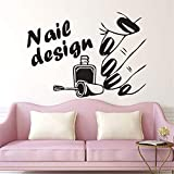 Quotes Art Decals Vinyl Removable Wall Stickers Nail Salon Nail Design Logo Beauty Shop Nails Wall Beautiful Hand