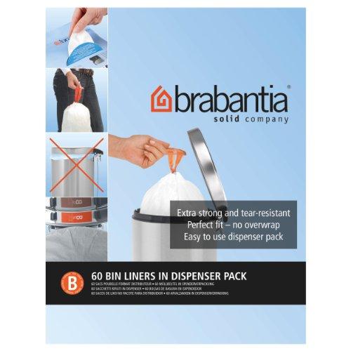 Brabantia B Expendedor Bolsas de Basura 5 L, Blanco
