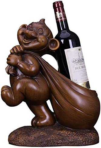 40% OFF Cheap Sale ZGPTX Sculpture for Decoration Statues Free shipping Red Or Creative Rack Wine