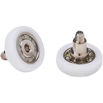 Almohadillas mampara de ducha Ruedas de bola de repuesto de acero para puertas de ducha A deslizamiento juego de 2 unidades ec-3304: Amazon.es: Bricolaje y herramientas