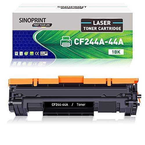SINOPRINT - Cartucho de tóner compatible con HP CF244A 44A con chip para impresora HP LaserJet Pro M15w M15a MFP M28w M28a, HP LaserJet Pro M16w M16a MFP M29w M29a M28 M15 M29 M16 (negro, 1 paquete)