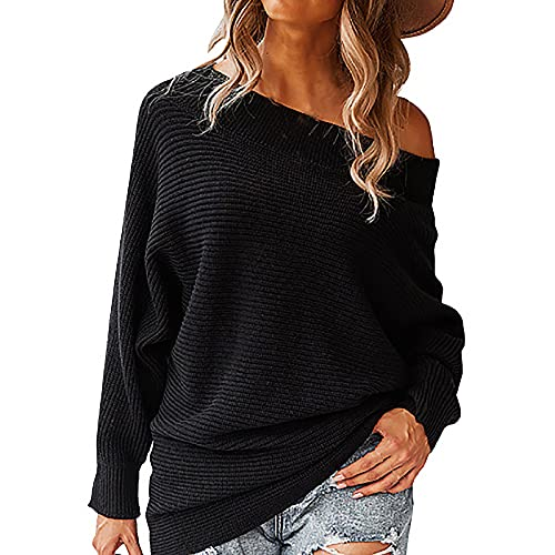 Long Sleeve Blouse for Women Casual 0-Neck Solid Color Basic Sweater Plus Size Fashion Basic Autumn Winter Pullover Top Black