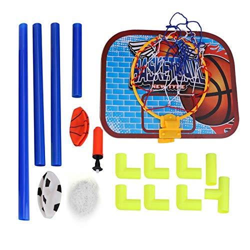 Cerlingwee Kit de Baloncesto para niños, Tablero Trasero de Mini Sistema de fútbol, Juego de Juguete portátil, Tablero de Baloncesto, Pelotas de protección para Baloncesto