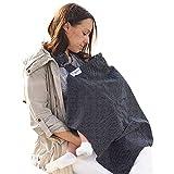 Stillschal Stilltuch für Unterwegs Sichtschutz beim Stillen - Schürzenähnlicher verstärkter Still-Schal - Mutter Kind Schal mit Aufbewahrungstasche