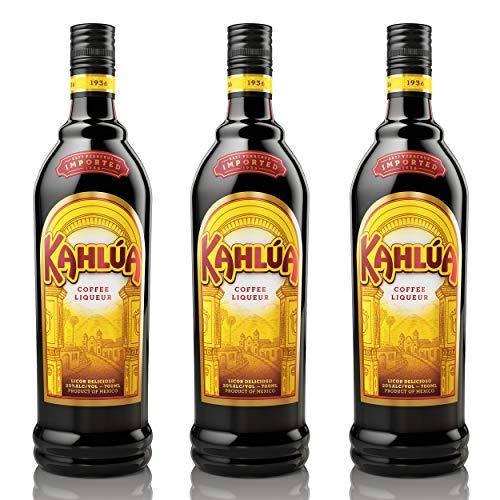 Kahlùa Kaffeelikör 3er Set, mexikanischer Likör, Spirituose, Alkohol, Flasche, 20%, 3x700 ml, 70317000