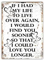 185 Great Tin Sign Aluminium if I Life to Live Vintage Outdoor&Indoor Sign Wall Decoration 12x8INCH
