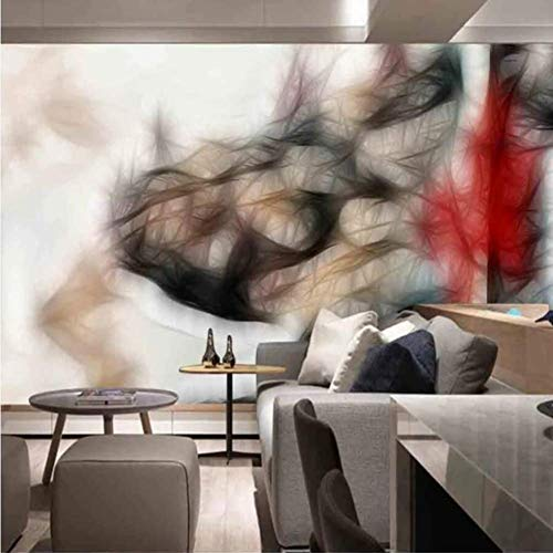 Bhposd Large Wallpaper Mural Custom 3D Minimalist Abstract Beautiful Lines Watercolor Tv Background Wallpaper Mural 120X100Cm
