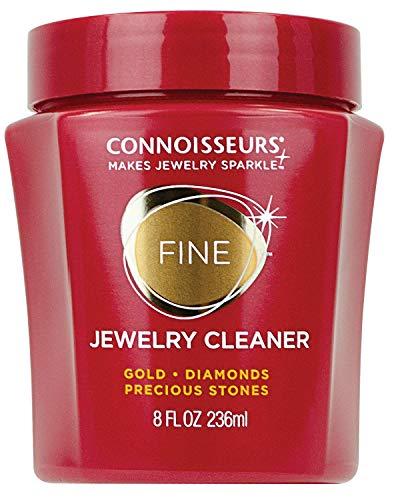 Connoisseurs Limpiador de Joyas | Limpieza de Joyas de oro | Limpiador de oro de 236ml para Joyas Como Collares, anillos y joyas con Preciosas