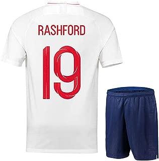 Marcus Rashford #19 England National Football Team Men's Soccer Jersey -Breathable, Quick Drying
