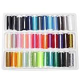 TENDYCOCO Carrete Hilo de Coser de Poliéster de Poliéster Máquina de Bordar Kit de Caja de Hilo de Acolchado para Coser Costuras de Acolchado (Color Variado)
