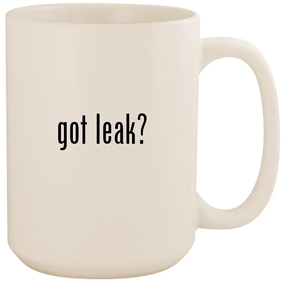 got leak? - White 15oz Ceramic Coffee Mug Cup