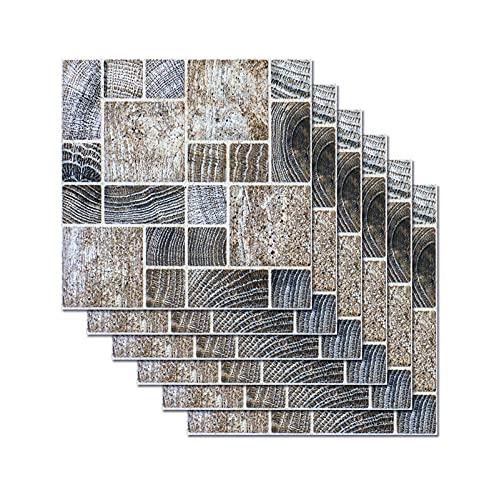 Pegatinas De Piso De Mosaico DIY Pegatinas De Azulejos Impermeables Decoración del Hogar Pegatinas De Pared De Baño Dormitorio 20 * 20 Cm (6 Piezas)