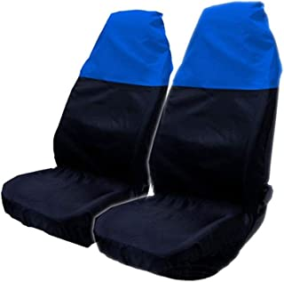 kaaka 2Pcs جهانی ضدآفتاب ضد آفتاب اتومبیل اتومبیل ون صندلی محافظ صندلی برای تعمیر و نگهداری داخلی اتومبیل طولانی مدت در فضای باز پوشش صندلی پارکینگ لوازم جانبی چند منظوره آبی سیاه