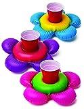 Flotadores posavasos hinchables para piscina 03 piezas - Flores
