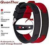 QUANTHOR 2 PACK Anti EMF Radiation Protection Bracelet 4 in 1 (Negative Ions 1500, Germanium, Far Infrared and Neodymium Magnet 1200 Gauss) Joint Pain and Carpal Tunnel Bracelet