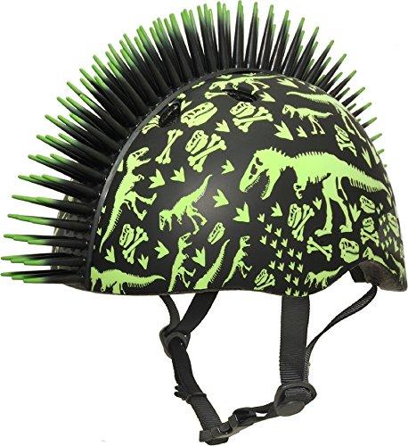 Raskullz T-Rex Bonez Mohawk Helmet, 3+ (48-52Cm), Black/Indigo