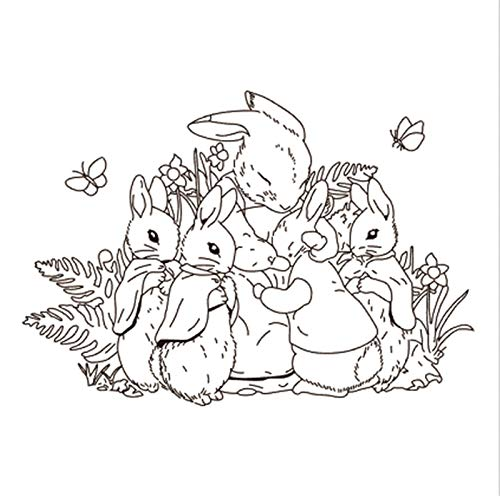 10x10 Bunny TBig ice Cream ransparent Clear Stamps Silicone Seals for DIY Scrapbooking Photo Album Card Making