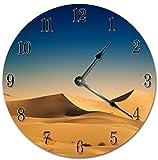 Reloj de pared de 25,4 cm con diseño de duna de arena y des