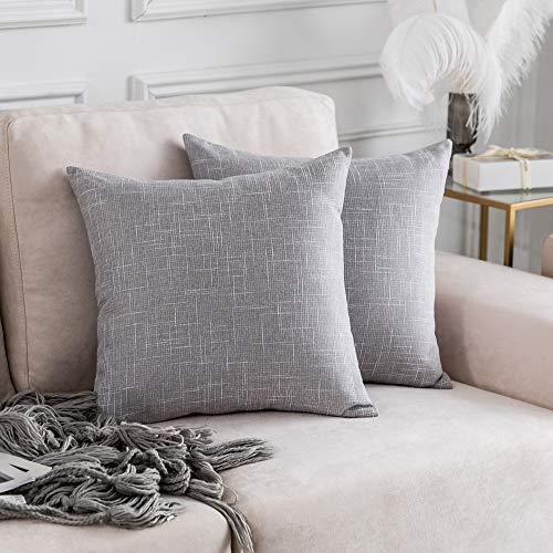Kevin Textile Faux Linen Home Decorative Hand Made Cushion Cover Pillowcase for Nap, Hidden Zipper, 18