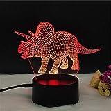 Pasillo luz de noche 3D Kids Room lámparas de decoración en 3D decoración del dormitorio de la lámpara de la ilusión 3D efecto visual Lámparas de luz dinosaurio 3D Noche regalo creativo de la luz de s